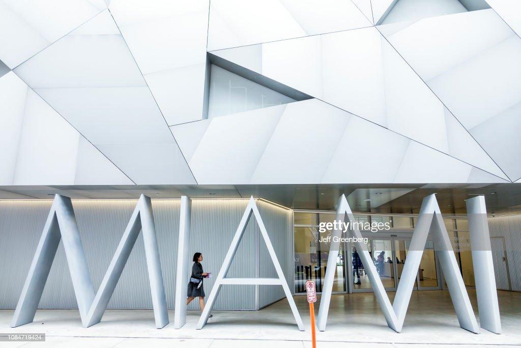 Miami, Design District, Institute of Contemporary Art entrance : News Photo