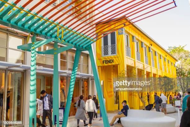 miami design district, miami, florida, united states of america usa - art basel stock pictures, royalty-free photos & images