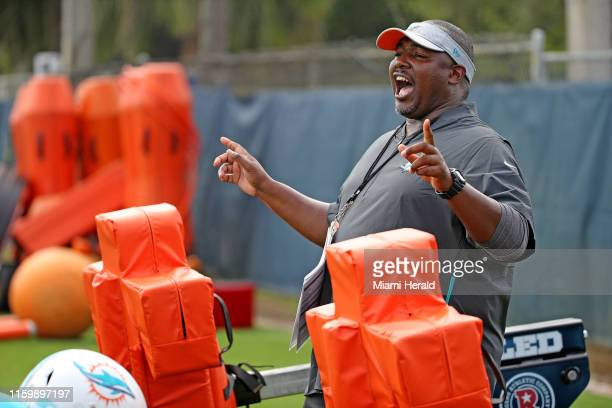 Miami Dolphins defensive coordinator Patrick Graham during training camp at their facility in Davie Fla Monday Aug 5 2019