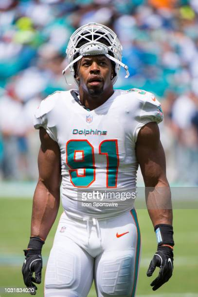 Miami Dolphins Defensive End Cameron Wake On The Field During The