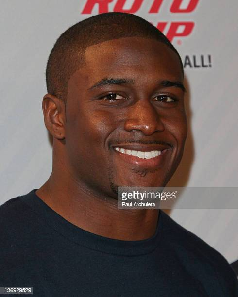 Miami Dolphins Running Back Reggie Bush attends the 4th Annual PBA Celebrity Invitational at Lucky Strike Lanes at LA Live on January 12 2012 in Los...