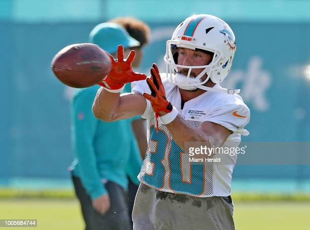 Miami Dolphins wide receiver Danny Amendola during the first day of training camp at the Miami Dolphins training facility in Davie Fla on Thursday...