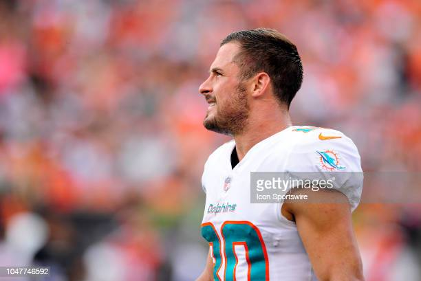 Miami Dolphins Wide Receiver Danny Amendola looks on during an NFL game between the Miami Dolphins and the Cincinnati Bengals on October 7 at Paul...