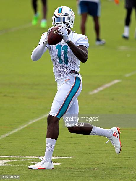 Miami Dolphins wide receiver DeVante Parker during he team's minicamp practice at Doctors Hospital Training Facility at Nova Southeastern University...