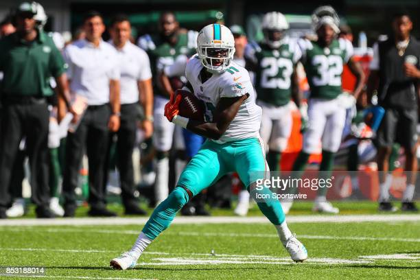 Miami Dolphins wide receiver DeVante Parker during the National Football League game between the New York Jets and the Miami Dolphins on September 24...
