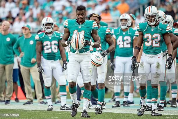 Miami Dolphins wide receiver DeVante Parker looks on during the NFL football game between the San Francisco 49ers and the Miami Dolphins on November...