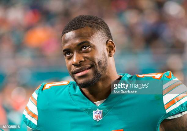 Miami Dolphins Wide Receiver DeVante Parker on the sidelines during the NFL football game between the New England Patriots and the Miami Dolphins on...