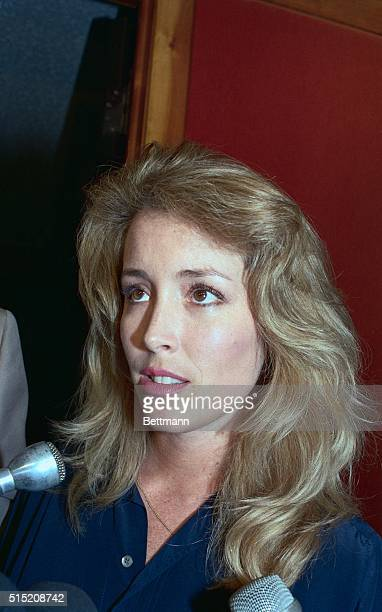 Donna Rice the subject of newspaper stories which stated that she met with Democratic Presidential Candidate Gary Hart at his Washington townhouse...