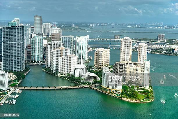 Miami downtown aerial view