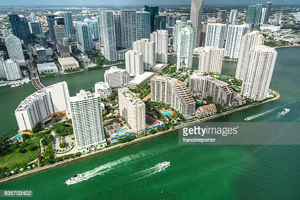 Miami downtown aerial view
