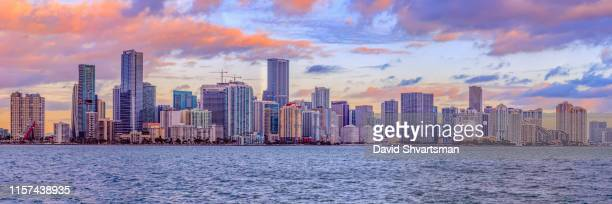 Miami Downtown City Skyline at golden hour USA
