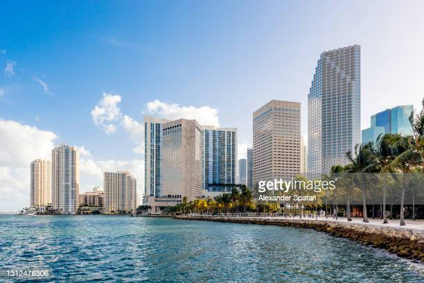 miami downtown skyline with modern office skyscrapers, florida, usa - miami stock pictures, royalty-free photos & images