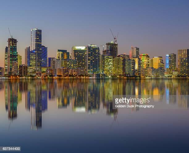 Miami Dusk Reflection