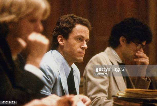 Theodore Bundy seated in court charged with the killings of two FSU coeds