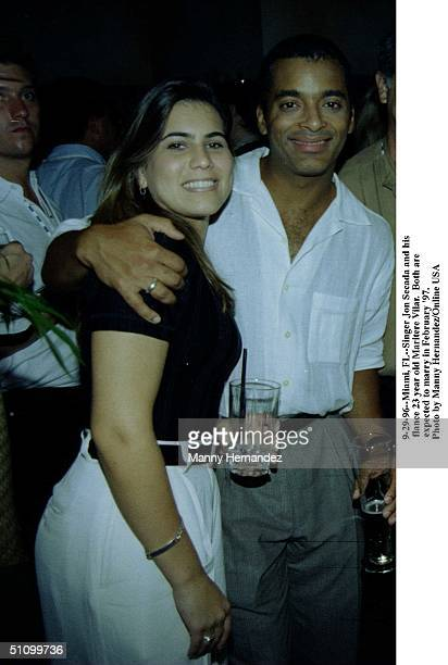 Miami FlJon Secada And His Fiance Maritere Vilar Both Are Expected To Tie The Knot February '97
