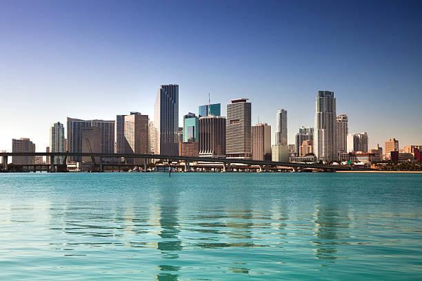 Miami Florida daytime skyline