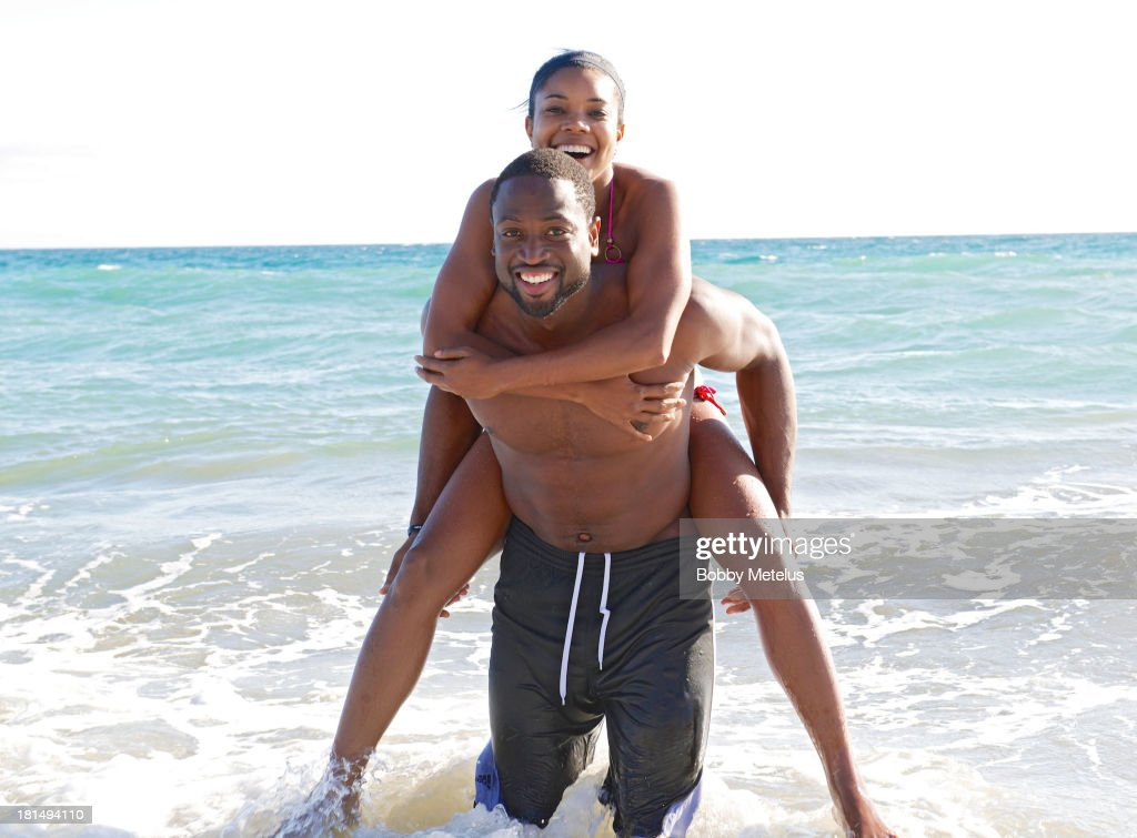 Miami Heat basketball player Dwyane Wade and actress Gabrielle Union are sighted enjoying a beach outing on September 21, 2013 in Malibu, California.