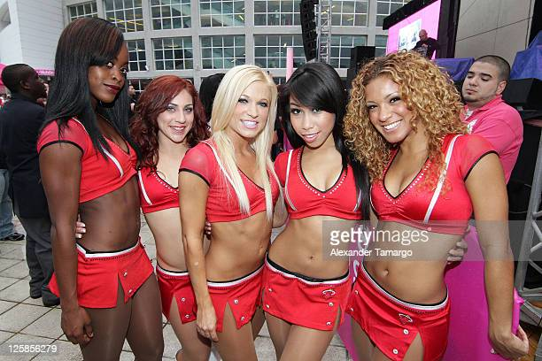 Miami HEAT Dancers make an appearance at the TMobile TipOff event before the Miami HEAT home game opener at AmericanAirlines Arena on October 29 2010...
