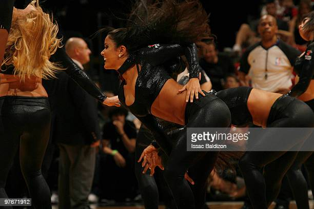 Miami Heat dancers perform on March 12 2010 at American Airlines Arena in Miami Florida NOTE TO USER User expressly acknowledges and agrees that by...