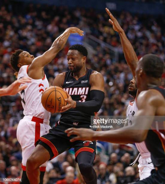 Miami Heat guard Dwyane Wade slips through Toronto Raptors defence enroute to 35 points Toronto Raptors vs New Orleans Pelicans in 2nd half action of...