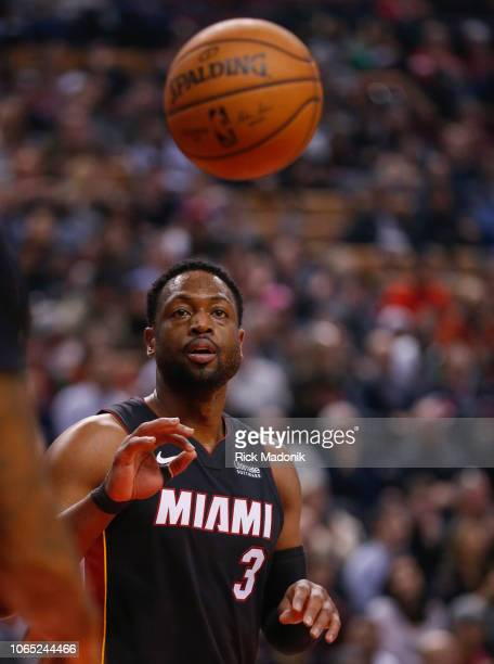 Miami Heat guard Dwyane Wade waits on an inbound pass Toronto Raptors vs New Orleans Pelicans in 1st half action of NBA regular season play at Air...