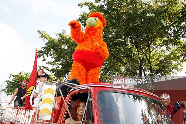 Miami Heat Mascot Burnie attends the 3 Kings Parade on 8th Street January 13 2008 in Miami Florida NOTE TO USER User expressly acknowledges and...