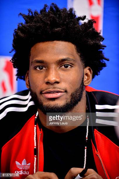 Miami Heat NBA player Justice Winslow attends a meet greets and autographs signing at rue21 Miami International Mall on October 9 2016 in Miami...