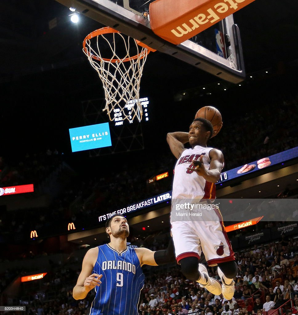 Josh Richardson goes for a dunk during ...