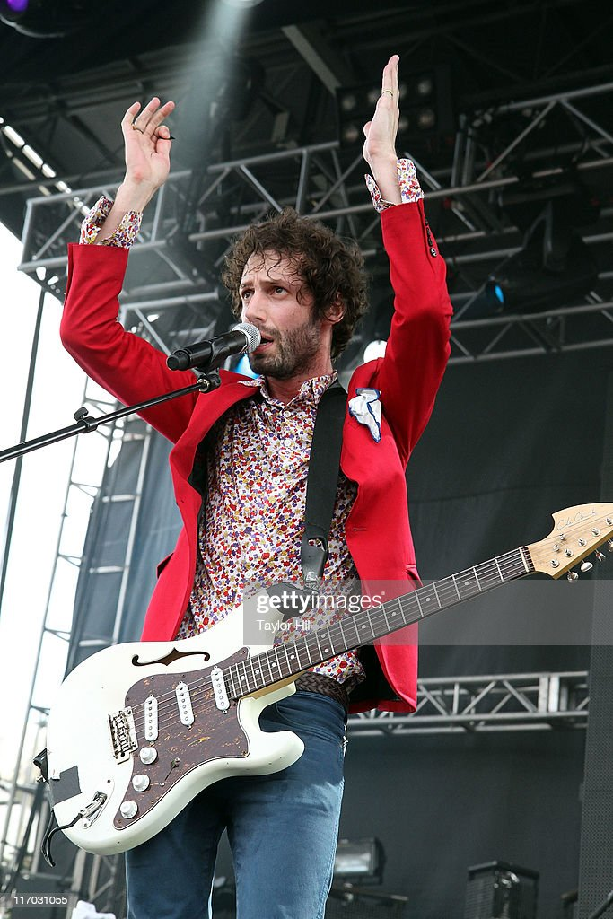 Miami Horror performs during the 2011 Governors Ball music festival on Governors Island on June 18, 2011 in New York City.
