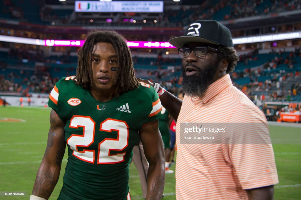 competitive price 2c0d6 a1e04 Miami Hurricanes alumni and former NFL player Ed Reed talks ...