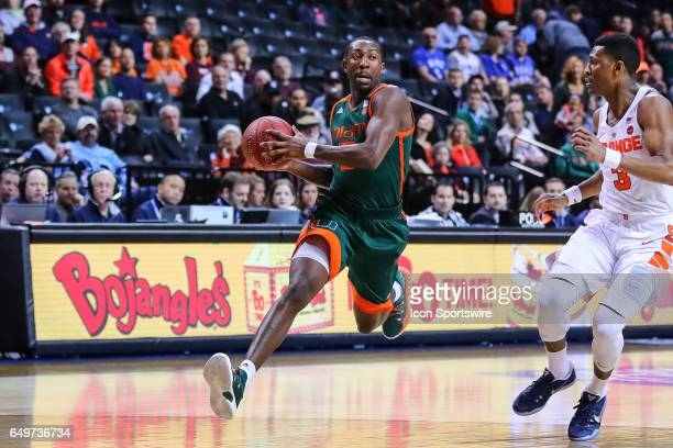 Miami Hurricanes guard Davon Reed during the first half of the 2017 New York Life ACC Tournament second round game between the Syracuse Orange and...