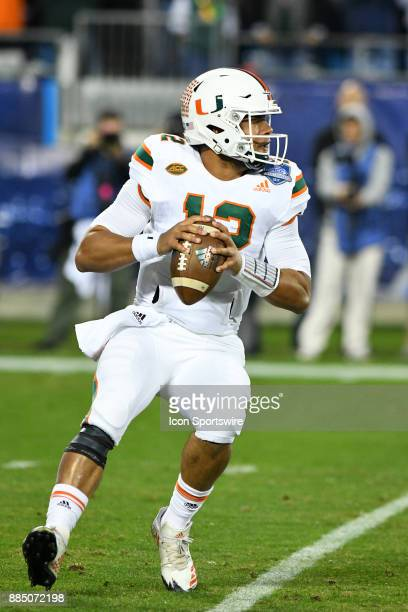 Miami Hurricanes quarterback Malik Rosier scrambles to the outside during the ACC Championship game between the Miami Hurricanes and the Clemson...