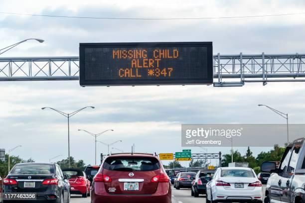 Miami, Interstate I-95, missing child alert.