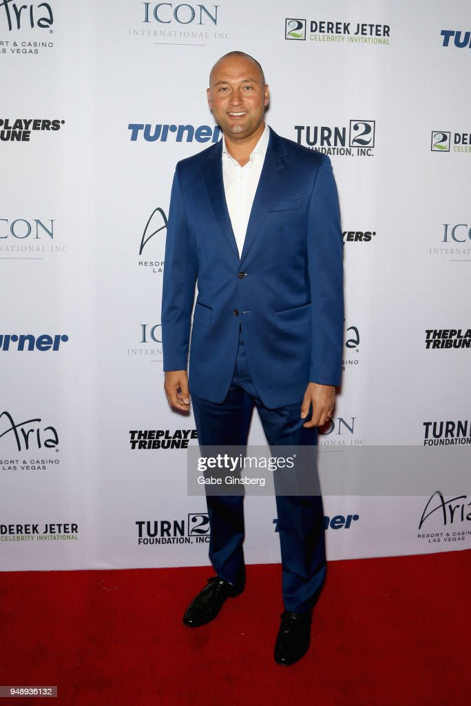 Miami Marlins CEO and co-owner Derek Jeter attends the 2018 Derek Jeter Celebrity Invitational gala at the Aria Resort & Casino on April 19, 2018 in Las Vegas, Nevada.