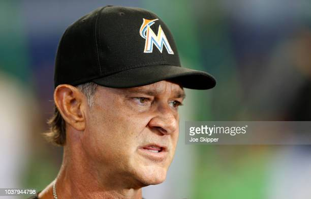 Starting pitcher Jose Urena of the Miami Marlins throws in the second inning against the Cincinnati Reds at Marlins Park on September 22 2018 in...