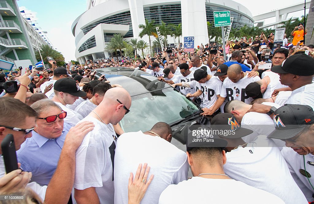 Jose Fernandez Funeral Procession And Public Memorial
