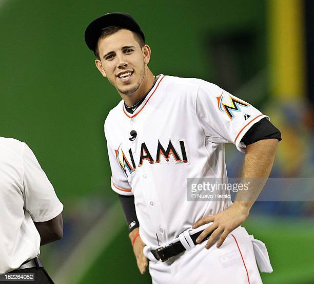 Miami Marlins pitcher Jose Fernandez appears before the Marlins game against the Detroit Tiger at Marlins Park in Miami Florida Saturday September 28...
