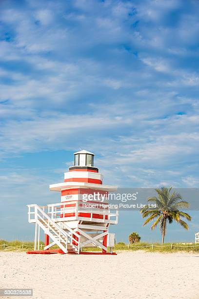 U.S.A, Miami, Miami beach, South Beach, Life guard beach hut