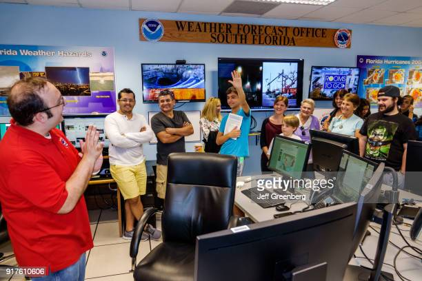 Miami National Hurricane Center Open House with Satellite Tracking Map