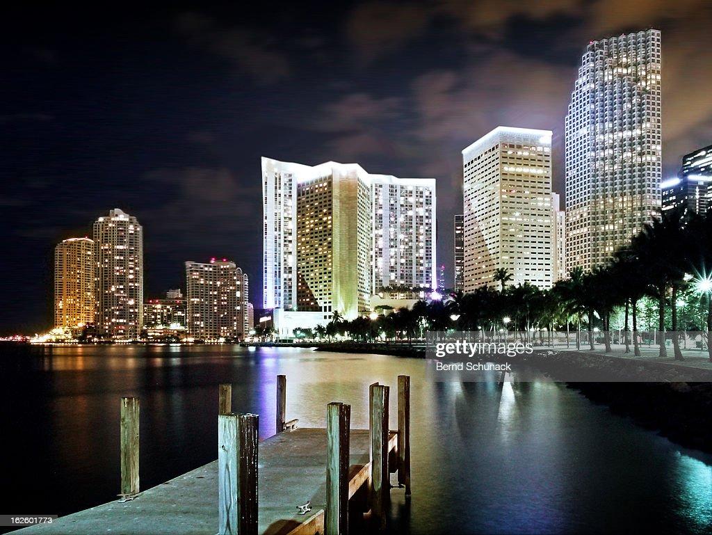 Miami Night Lights : Stock-Foto
