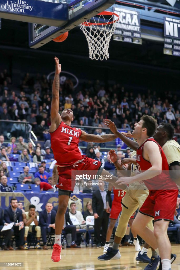ab50a86ab26 Miami RedHawks guard Nike Sibande scores with a layup during the ...