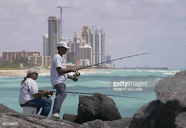 Miami residents fish 18 April at Haulover Cut on Miami Beach Miami is 105 years old and the eleventh largest metropolitan area in the US According to...
