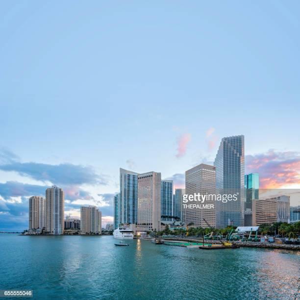 Miami Skyline Biscayne bay