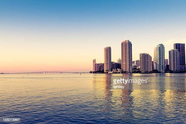 Miami skyline on Biscayne bay