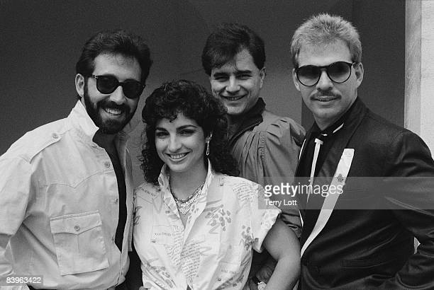 Miami Sound Machine during a photo session in Kensington Gardens London September 1984