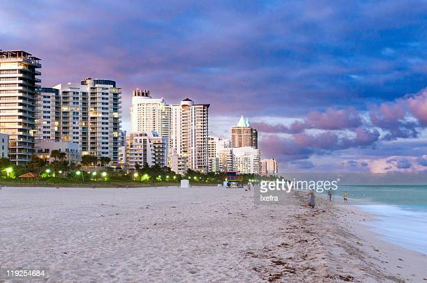 miami south beach - south beach stock pictures, royalty-free photos & images