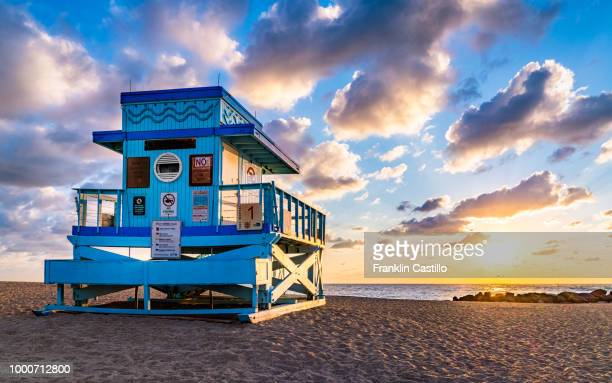 miami sunrise at haulover beach - haulover beach stock photos and pictures