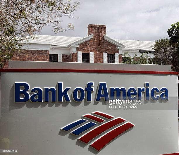 A Bank of America branch is shown 23 April 2007 in Miami Florida Bank of America announced a 21billion USD takeover offer for LaSalle Bank...