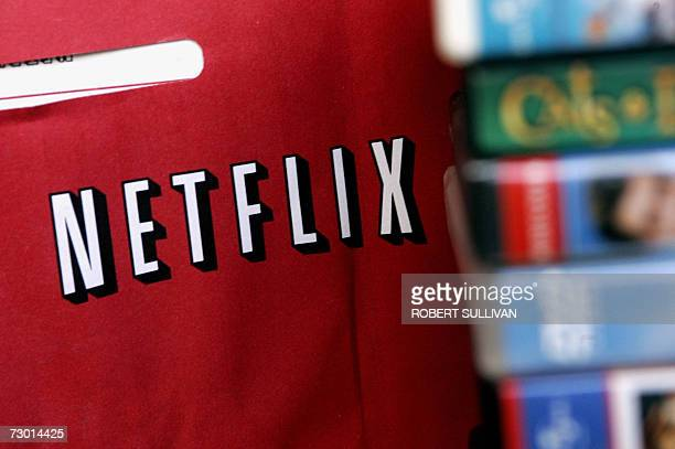 Netflix return mailer is pictured in Miami, Florida 16 January 2007. Netflix annouced it will start showing movies and TV episodes over the Internet,...