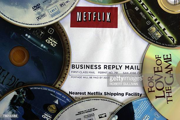 A Netflix return mailer is pictured in Miami Florida 16 January 2007 Netflix annouced it will start showing movies and TV episodes over the Internet...
